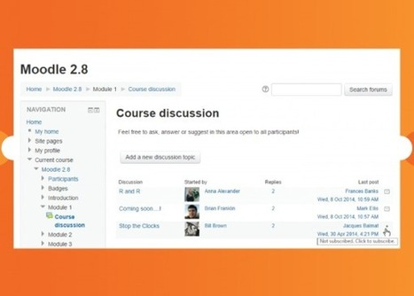 New features - MoodleDocs | Moodle, Mahara and Online Learning | Scoop.it