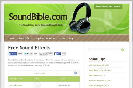 5 sitios para descargar efectos de sonidos gratis, para usar en cualquier proyecto | COMUNICACIONES DIGITALES | Scoop.it