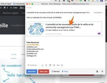 MixMax. Veille et suivi en temps réel de vos mails | Les outils de la veille | BàON - la Boite à Outils Numériques | Scoop.it