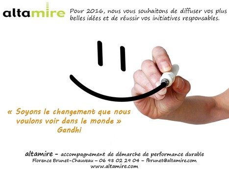 Voeux Altamire 2016 | Responsabilité Sociétale des Entreprises et des Organisations | Scoop.it