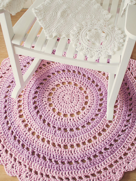 Crochet a Gorgeous Mandala Floor Rug - Tuts+ | Crafting and Crafts | Scoop.it