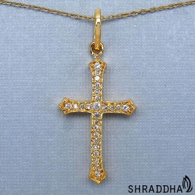 0.29CTW White Cubic Zirconia Brass Gold Plated Cross Shape Pendant   Online Jewellery Shopping in India   Scoop.it