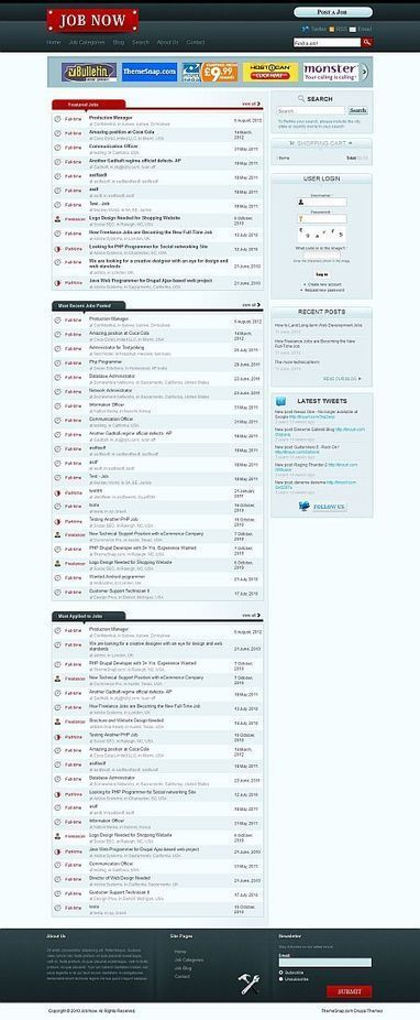Job Now Drupal Job Board Theme   Premium iThemes   Themes & Templates   Scoop.it
