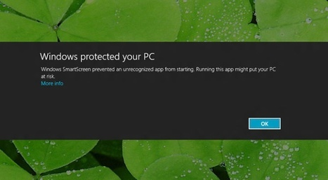 #Microsoft sabrá qué programas instalas en #Windows8 mediante #SmartScreen | Desktop OS - News & Tools | Scoop.it