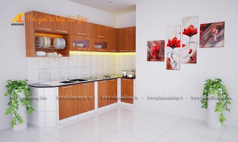Tủ bếp gỗ chị MINH quận 4 TBAK379.   bepankhanggiare   Scoop.it