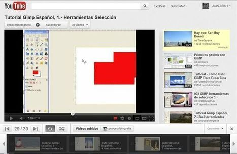 Videotutorial de GIMP en español | Create, Innovate & Evaluate in Higher Education | Scoop.it