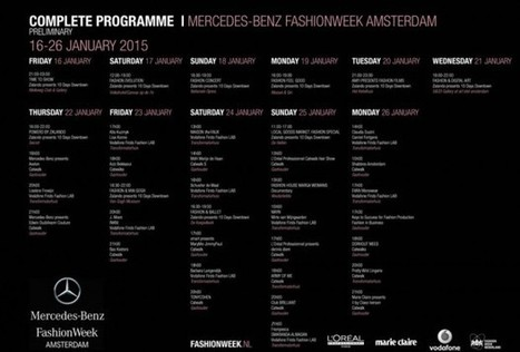 Mercedes-Benz Fashion Week Amsterdam Schedule Confirmed  - by Styling Amsterdam | I Love Celebrity Styles Fashion News. Fashion Designers Models Trendsetters Daily Notes Agenda Guide Style Trends Magazine Calendar Planner News Fashion days and deals Celebrity styles | Scoop.it