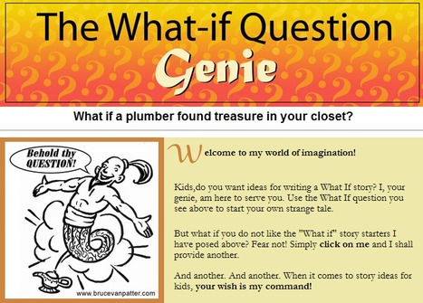 The What-if Question Genie | Writing Activities for Kids | Scoop.it