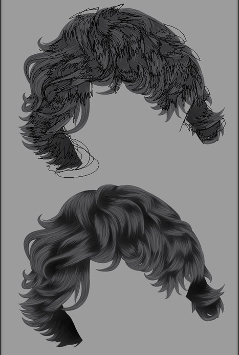How to Render Short, Detailed Hair in Adobe Illustrator | Design, social media and web resources | Scoop.it
