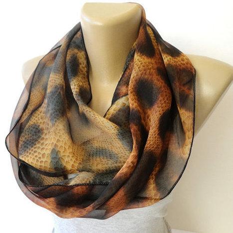 leopard scarf trends ,women infinity scarf ,chiffon scarves ,brown ,fashion accessory ,eternity scarf | Winter Fashions | Scoop.it