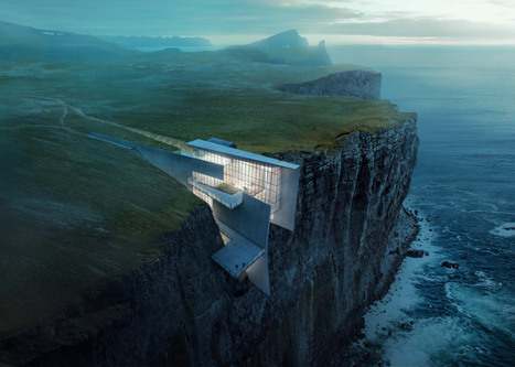 Alex Hogrefe's conceptual retreat is cut into an Icelandic clifftop | Inspired By Design | Scoop.it