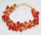 Red Coral Wire CrochetBracelet | jewelry tutorial | Scoop.it