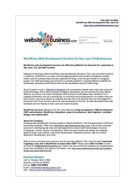 WordPress Web Development Services in San Jose California | Web Development | Scoop.it