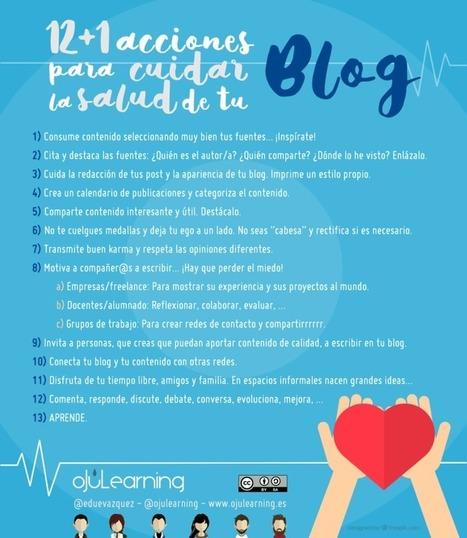 12+1 acciones para cuidar la salud de tu blog - oJúLearning | APRENDIZAJE | Scoop.it