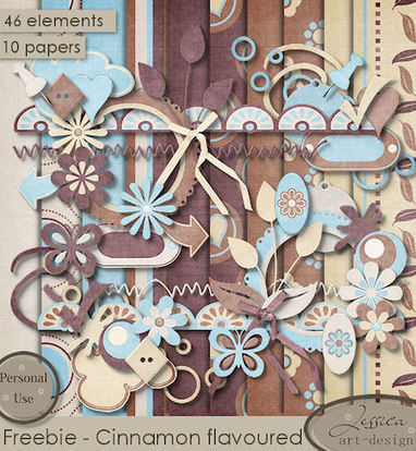 Scraps by Jessica art-design: Freebie: Cinnamon flavoured | Free Digital Scraps | Scoop.it