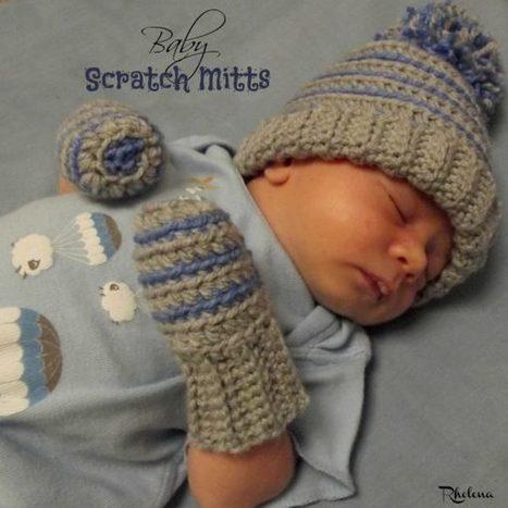Crochet Baby Scratch Mitts - CrochetN'Crafts | Free Crochet Patterns | Scoop.it