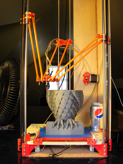 3ders.org - Rostock: an amazing delta robot 3D printer prototype | 3D Printing news | BarFabLab | Scoop.it