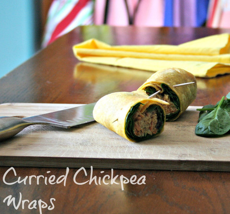 Curried Chickpea Wraps - infinebalance | Healthy Cooking Magazine | Scoop.it