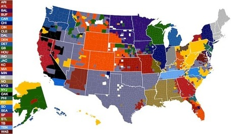 NFL fans by U.S. county, according to Facebook | EGHS Geography | Scoop.it