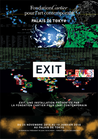 """ EXIT "" - expo à la Fondation Cartier pour l'art contemporain 