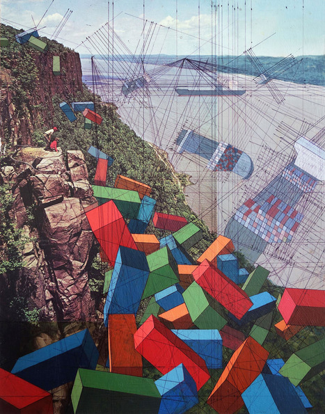 #Globalization and the #Environment Collide in Mary Iverson's Mixed Media #Paintings of #Shipping #Containers. #art | Luby Art | Scoop.it