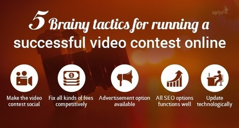 5 Brainy tactics for running a successful video contest online | Contest Software - 99designs clone | Scoop.it