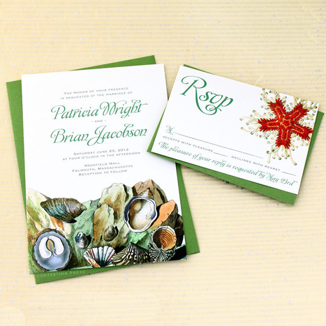 Concertina Press - Stationery and Invitations: Tide Pool Wedding ... | All About Beach Weddings | Scoop.it