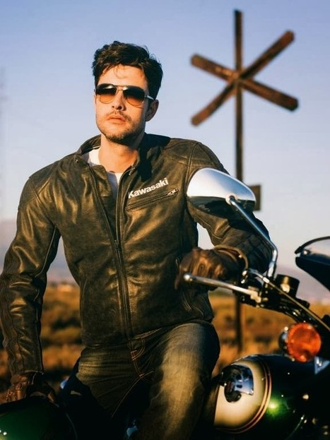 KAWASAKI ASPHALT S LEATHER JACKET | Vintage Motorbikes | Scoop.it