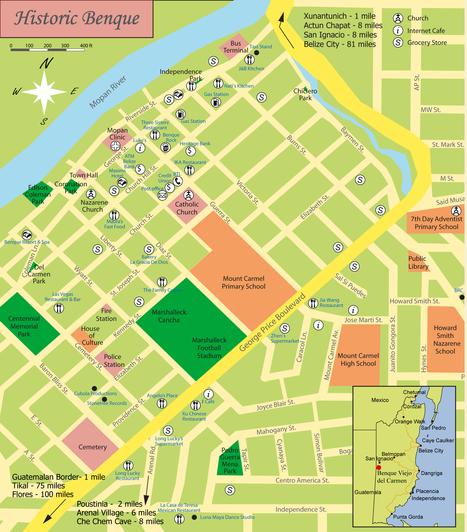 Benque's Heritage Tour Map | Trails | Scoop.it
