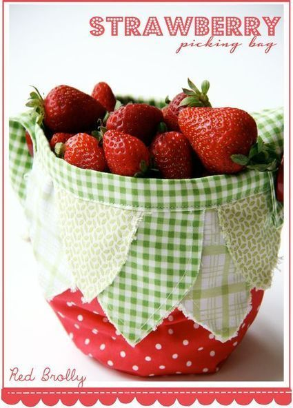 Kids :: Strawberry Bag- free pattern - Red Brolly | Einfach Nähen | Scoop.it