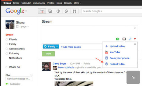 Google Adds New Web Camera Video Recording Feature to Google+ | Geeky Gadgets | Video Online | Scoop.it