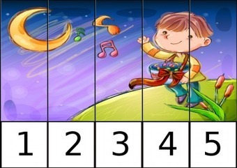 Puzzles numéricos 1 AL 5 trabajamos la motricidad y la numeración - Orientacion Andujar | Materiales de Orientación Andújar | Scoop.it