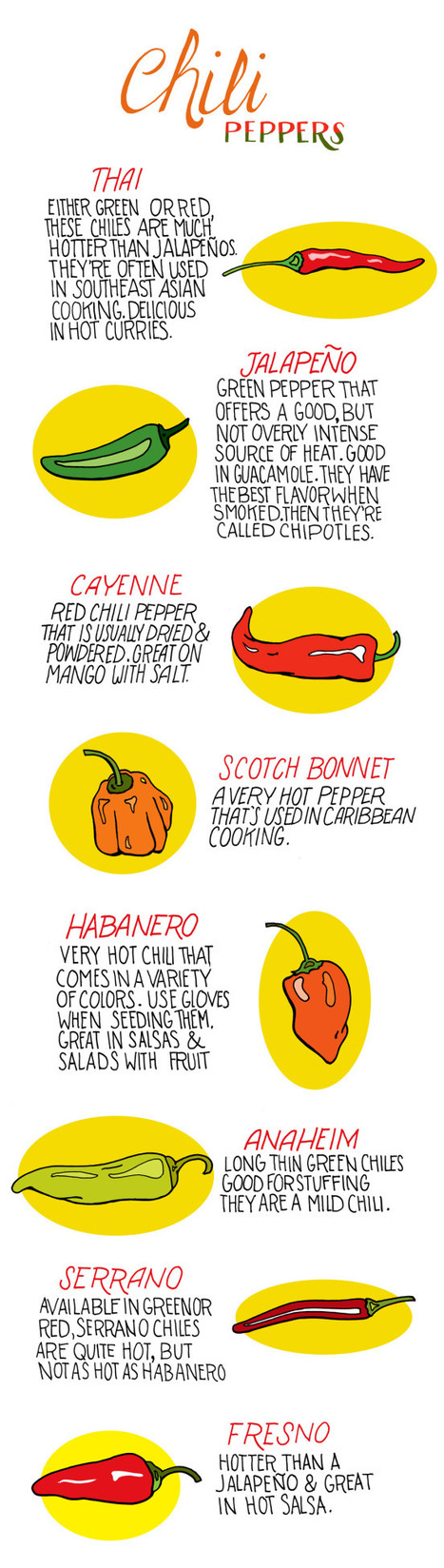 Chili Pepper Heat Index [Infographic] - BestInfographics.co | The Best Infographics | Scoop.it