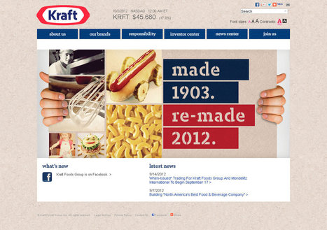 Kraft Foods abandons spark logo for classic shield (1903) | Design World | Scoop.it