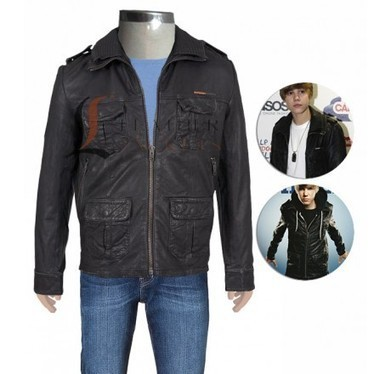 Classic Spread Collar Leather Jacket | Unique collection of celebrity jackets its now | Scoop.it