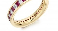 Ruby and Diamond Eternity Ring Set in 18 Caret Yellow Gold | Engagement rings Dublin Blog. | Scoop.it