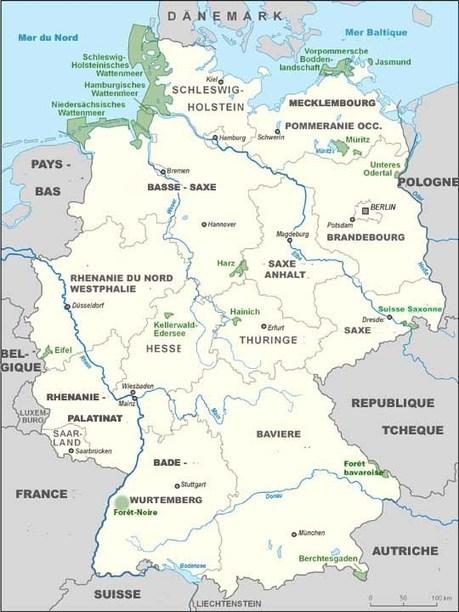 Les parcs nationaux Allemagne - carte | Allemagne tourisme et culture | Scoop.it