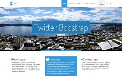 Neat - The Clever Bootstrap 3 Template - Download! New Themes and Templates | Web | Scoop.it