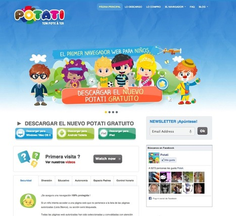 Educación tecnológica: Potati: un navegador web especial para niños   DIY&InformáTIC@   Scoop.it