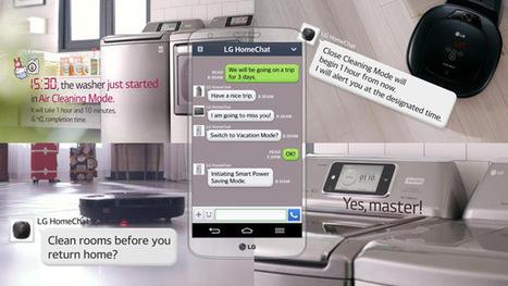 HomeChat par LG: chatter avec son matériel électroménager | Domotique, Votre maison connectée | Scoop.it