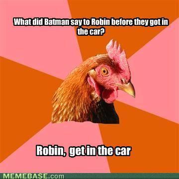 Anti Joke Chicken: Holy Punchline, Batman! | meme, lol & existensialism | Scoop.it