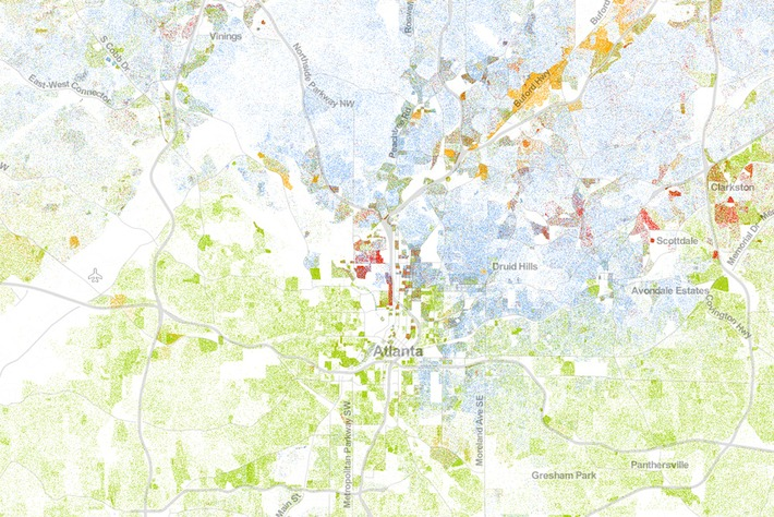 The Best Map Ever Made of America's Racial Segregation | Cultural History | Scoop.it