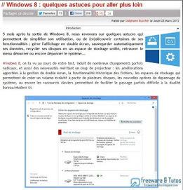 Le site du jour : sélection d'astuces pour mieux utiliser Windows 8 | classement interne personnel numérique | Scoop.it