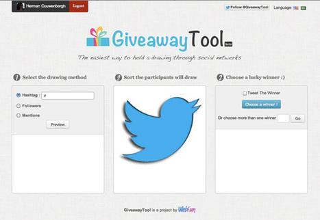 Handige tool om Twitter prijs-actie-winnaars te kiezen | Webinar-experts | Scoop.it