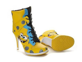 Nike Dunks Spongebob High Heels Shoes Yellow Nike Dunks Spongebob /Spongebob High Heels | Spongebob Nike Dunks | Scoop.it