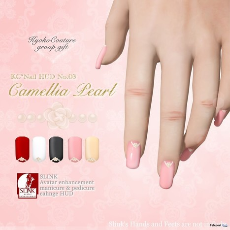 Camellia Pearl Nail Applier for Slink Group Gift by Kyoto Couture | Teleport Hub - Second Life Freebies | Second Life Freebies | Scoop.it
