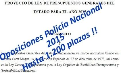 Oposiciones Policía Nacional 2015 - Hasta 1200 plazas | Oposiciones | Scoop.it