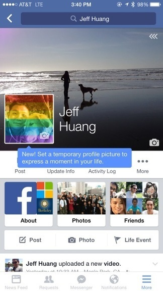 Facebook Testing Temporary Profile Pictures | Current Web Design & Development | Scoop.it
