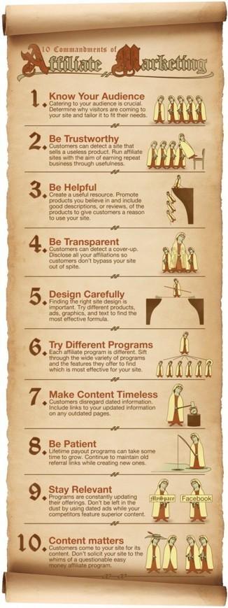 The 10 Commandments of Affiliate Marketing Infograph | Social media culture | Scoop.it