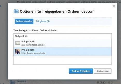 allfacebook.de   Dropbox integriert Facebook   Facebook in der Schule -  Facebook in school   Scoop.it